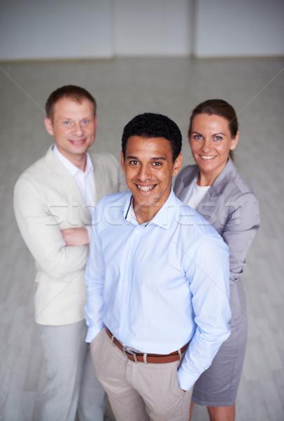 Fehérgalléros munkások portré okos üzleti partnerek néz Stock fotó © pressmaster