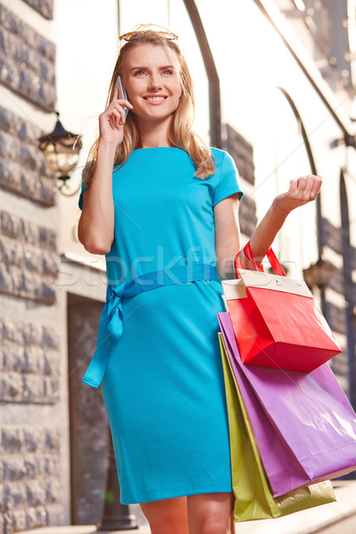 Shopper calling Stock photo © pressmaster