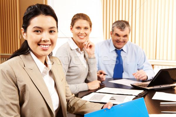 Foto stock: Empregador · imagem · mulher · atraente · inteligente · negócio