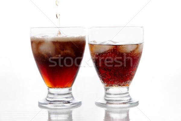 Iki içkiler görüntü buz kabarcıklar gıda Stok fotoğraf © pressmaster