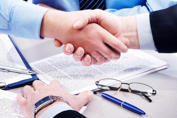 Commerce działalności handshake pracy dokumentów Zdjęcia stock © pressmaster