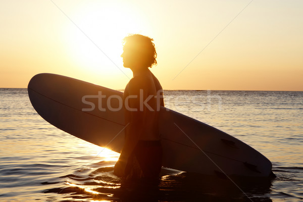 Surfer in water Stock photo © pressmaster