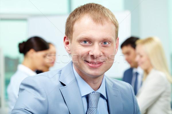 Stock fotó: Sikeres · főnök · portré · okos · munkáltató · néz