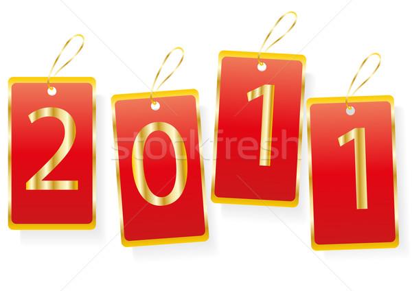 Occasione 2011 buon anno rosso design arte Foto d'archivio © pressmaster