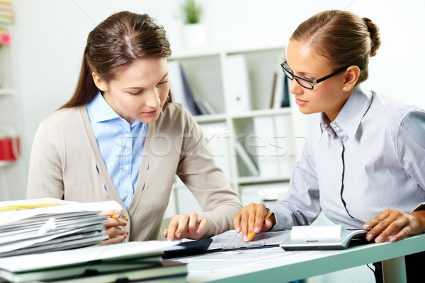 Stock photo: Accountants at work