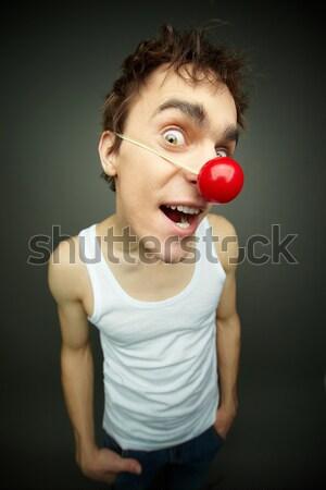 Néz férfi közelkép vásárol kamera mosoly Stock fotó © pressmaster