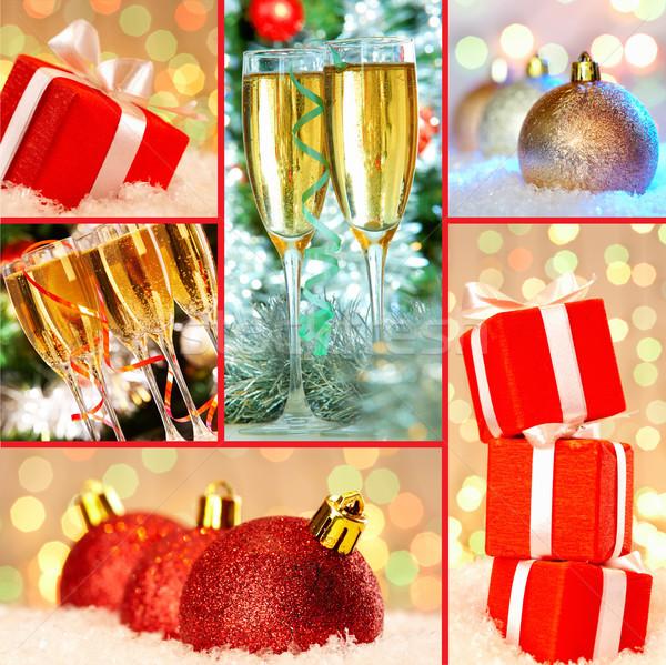 Noel atmosfer toplama hediyeler dekoratif oyuncak Stok fotoğraf © pressmaster