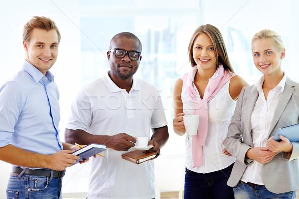 Csapat négy kész üzlet nő boldog Stock fotó © pressmaster