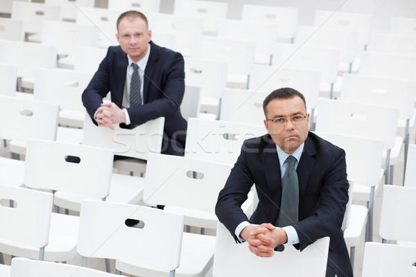 会議 参加者 ビジネスマン 座って チェア ホール ストックフォト © pressmaster