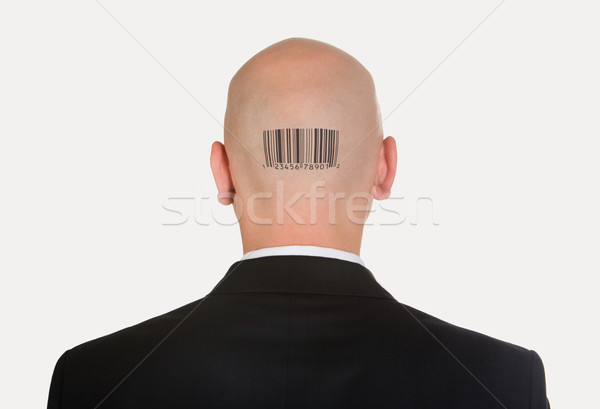 Man with bar code Stock photo © pressmaster