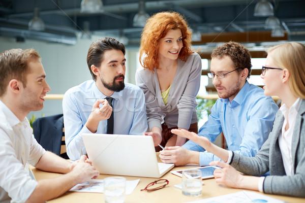 деловое совещание компания компьютер человека Сток-фото © pressmaster