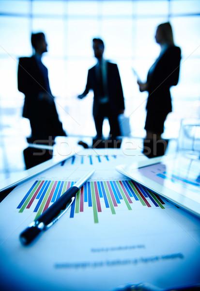 Photo stock: Affaires · technologique · financière · document · stylo