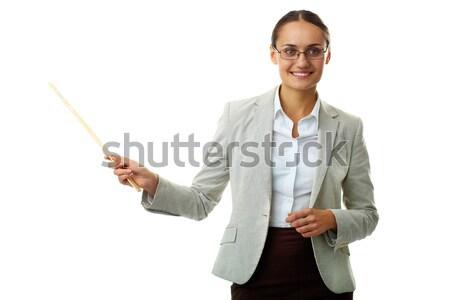 Zdjęcia stock: Nauczyciel · portret · business · woman · folderze · pióro
