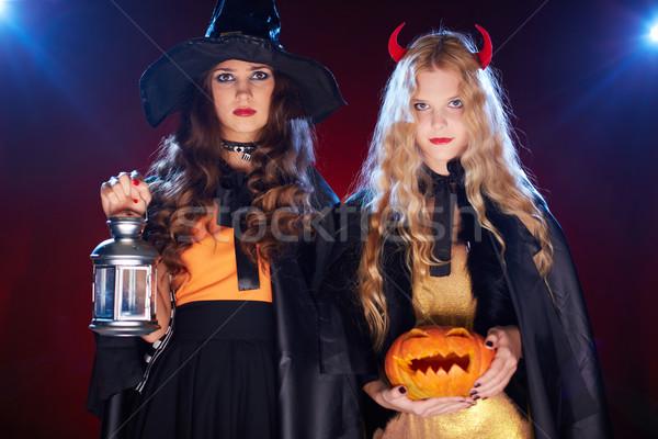 Celebration of Halloween Stock photo © pressmaster