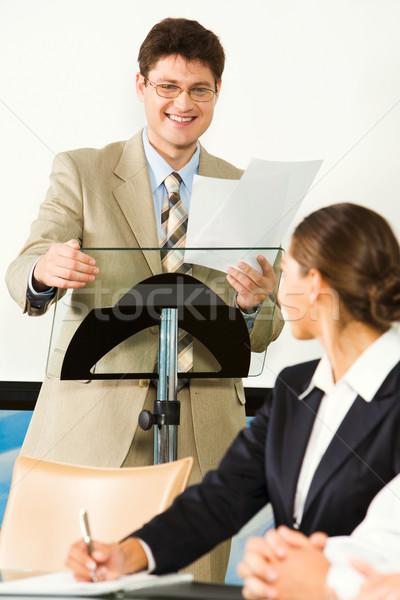 Before a seminar Stock photo © pressmaster
