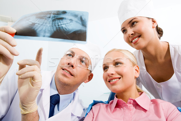 Stok fotoğraf: Dişçi · görüntü · genç · bayan · hemşire