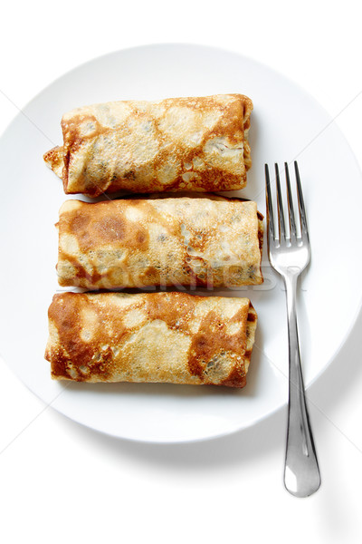 Pancake with meat Stock photo © pressmaster