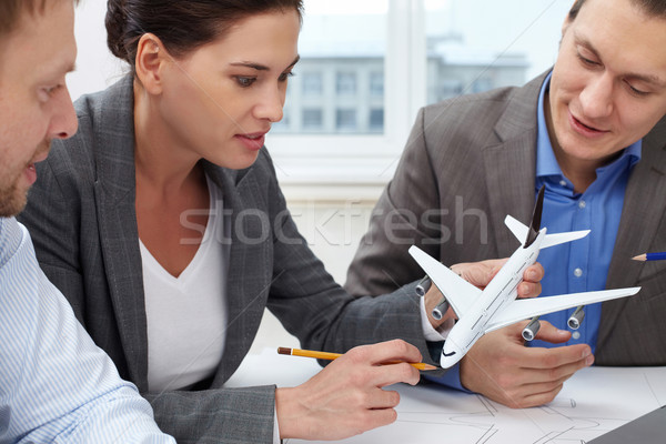 Invention of new plane Stock photo © pressmaster