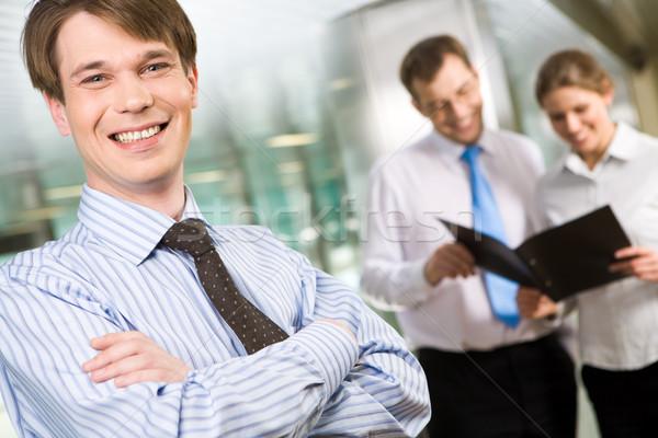 Photo stock: Heureux · affaires · photo · réussi · homme · regarder