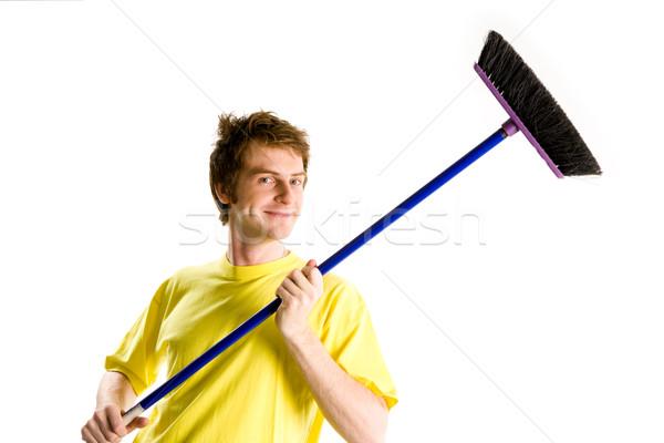 Man with brush Stock photo © pressmaster