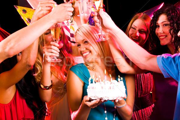 Stockfoto: Verjaardag · entertainment · portret · blijde · meisje