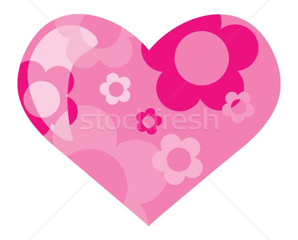 Boyama Kalp çiçekler Soyut Boya Arka Plan Vektör