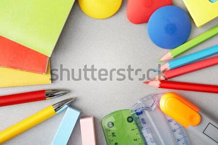 Helm handschoenen architect papier bouw Stockfoto © pressmaster