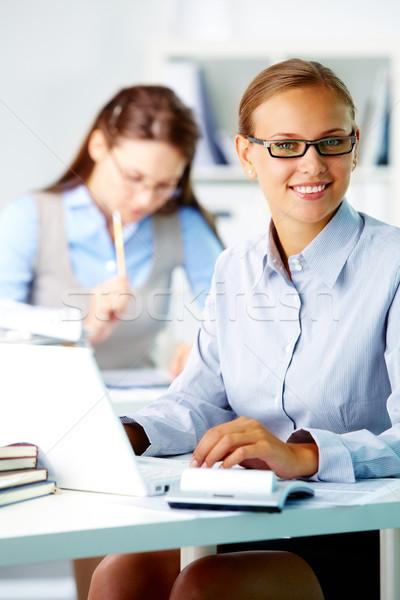 Stock photo: Happy office worker