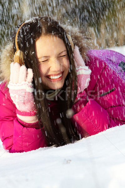 Under snowfall Stock photo © pressmaster