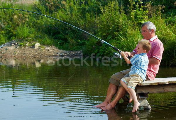 Weekend fishing Stock photo © pressmaster