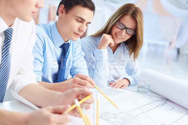 Explaining strategy Stock photo © pressmaster
