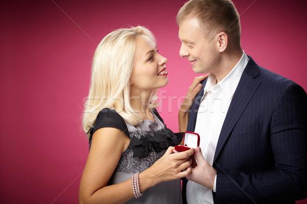 Proposition élégante homme belle femme famille Photo stock © pressmaster