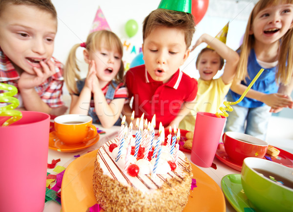 Birthday cake Stock photo © pressmaster