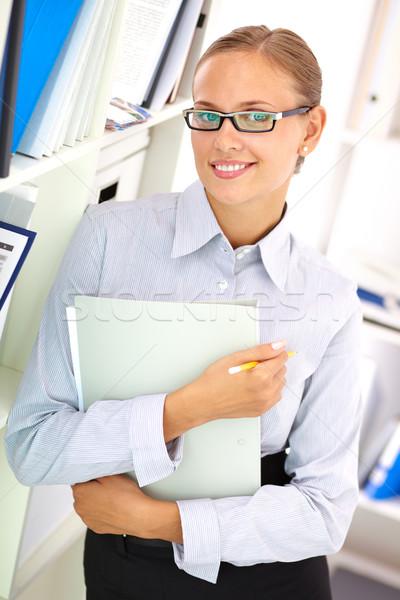 Stock photo: Smiling businesswoman