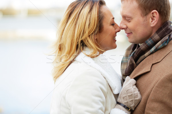 Attraction portrait heureux affectueux couple amour Photo stock © pressmaster