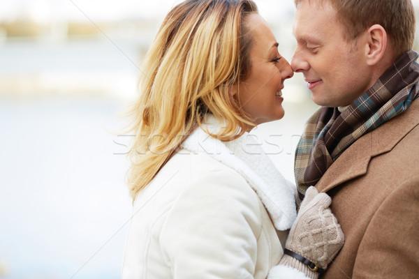 Attrakció portré boldog szeretetteljes pár szeretet Stock fotó © pressmaster