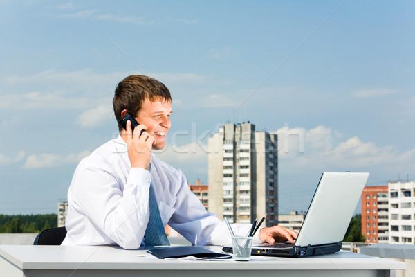 Stockfoto: Business · oproep · afbeelding · geslaagd · ondernemer