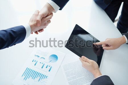 Concluding contract Stock photo © pressmaster