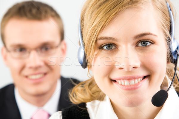 Inteligentes recepcionista cara bastante secretario Foto stock © pressmaster