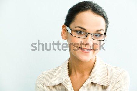 Astucieux femme vue femme d'affaires bleu affaires Photo stock © pressmaster