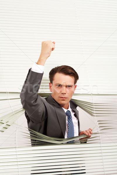 Boos zakenman portret man naar camera Stockfoto © pressmaster