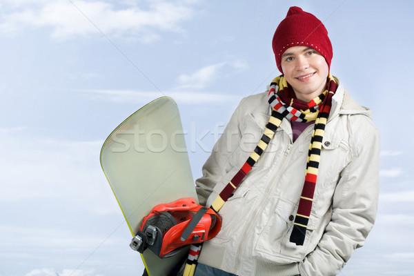 Guy with snowboard Stock photo © pressmaster