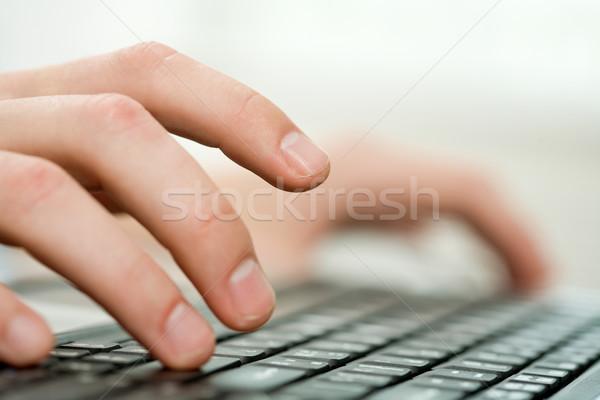 Dokunmak anahtar erkek el klavye Stok fotoğraf © pressmaster