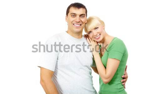 Photo stock: Couple · portrait · heureux · femme · tête · homme