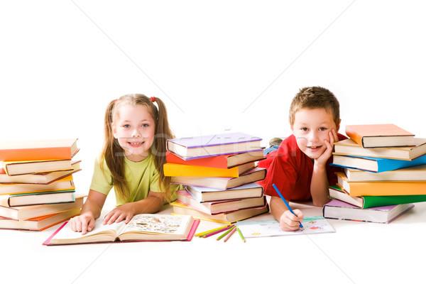 Two schoolkids Stock photo © pressmaster