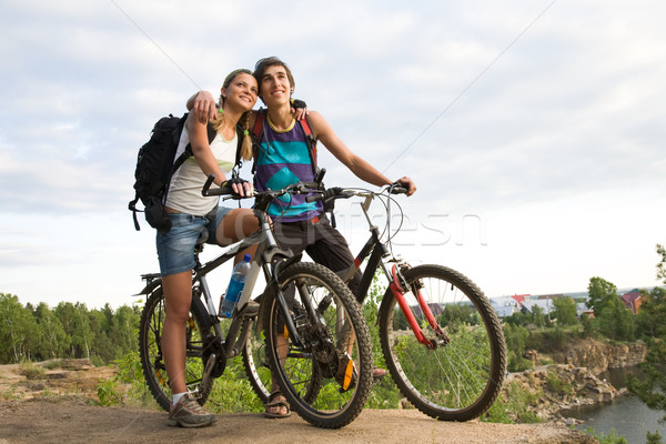 Amorous bikers Stock photo © pressmaster
