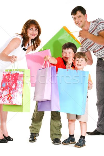 Stock photo: Joyful shopping