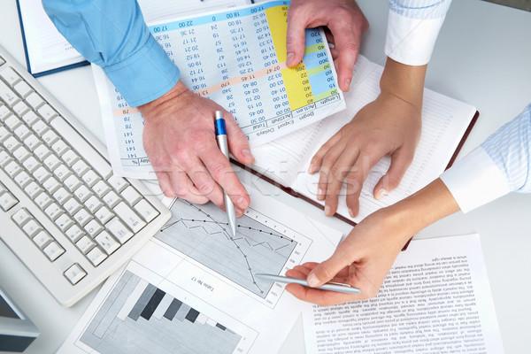 üzlet ötletek közelkép emberi kezek mutat Stock fotó © pressmaster