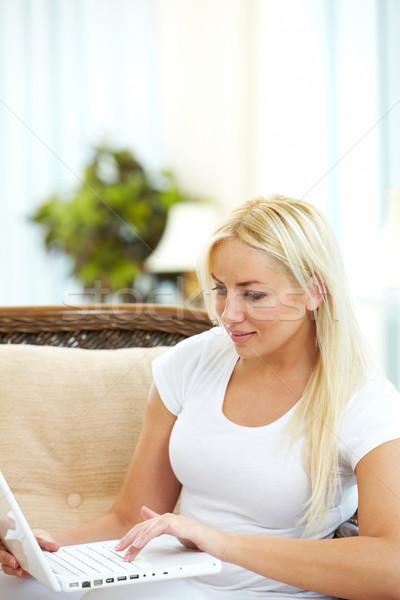 Woman typing Stock photo © pressmaster