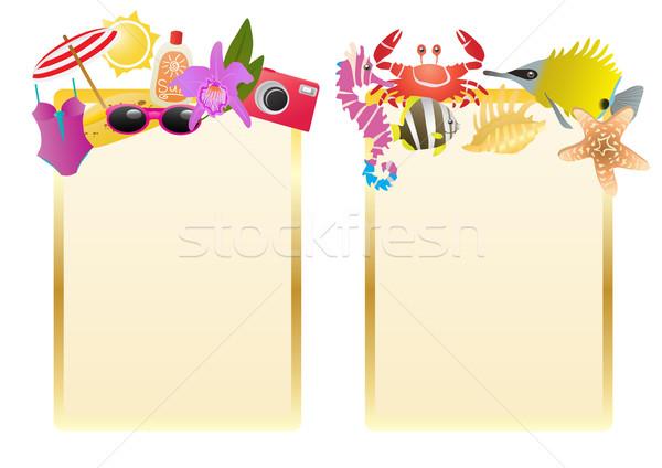 summer-label Stock photo © pressmaster